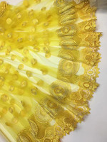 High Quality African Lace Fabric Net 2017 French Lace Tulle Nigerian Lace Fabric For Wedding Sewing!JSD652!