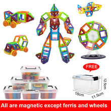 Mini Size Magnetic construction Magnetic Building Blocks Set Magnet Designer STEM Educational Toys For Kids Gift 60pcs-138pcs цена 2017