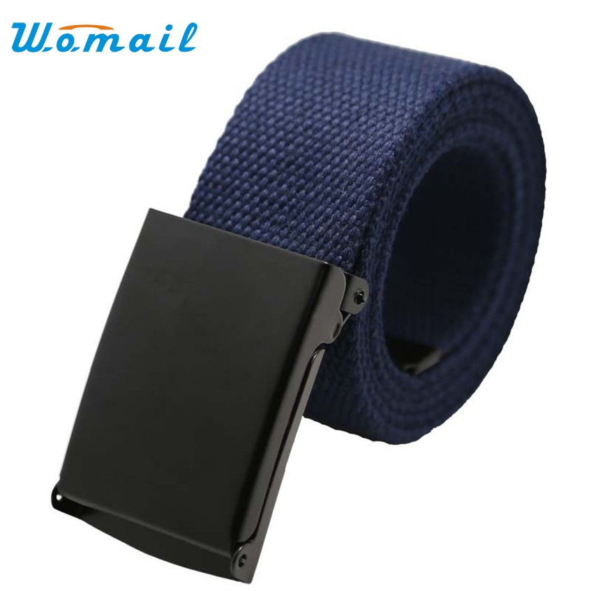 Men Belt New Fashion Unisex Army Tactical Waist Belt Jeans Male Casual Luxury Canvas Webbing Waistband