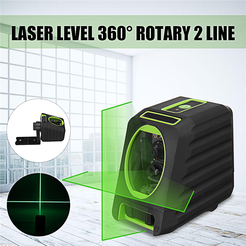 Laser Level 2 Line 360 Rotary Self Rotary Auto Self Leveling Vertical Horizontal Slash Function and Outdoor Level Laser Tools bbloop email in self inking stamp rectangular laser engraved blue