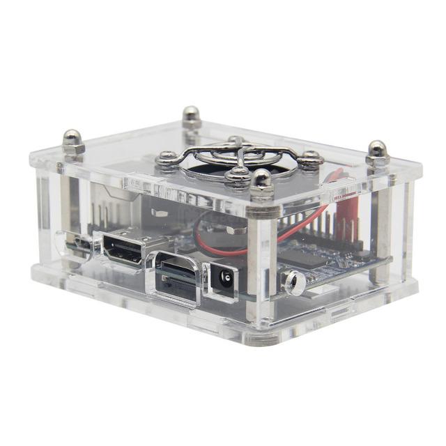 Orange Pi One Acrylic Case + Cooling Fan + Copper Heat sink Kits for Orange Pi One