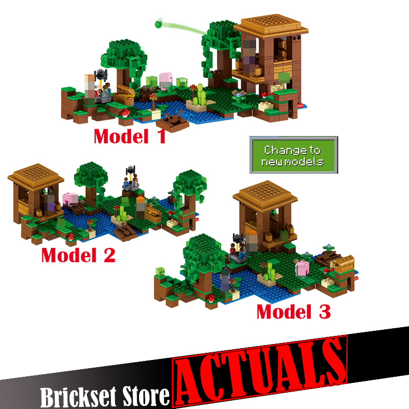 New Lepin 500pcs My World Minecraft The Witch Hut anime action figures Building Blocks Bricks fun Toys For Children gifts 21133 lepin my world minecraft 18038 527pcs the nether portal building blocks bricks enlighten toys for children compatible with 21143