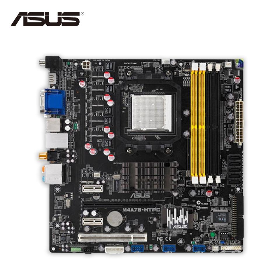 Asus M4A78-HTPC Original Used Desktop Motherboard 780G Socket AM2 DDR2 SATA2 USB2.0 uATX original motherboard m4a78 socket am2 am2 am3 ddr2 16gb gigabit etherne mainboard desktop motherboard free shipping