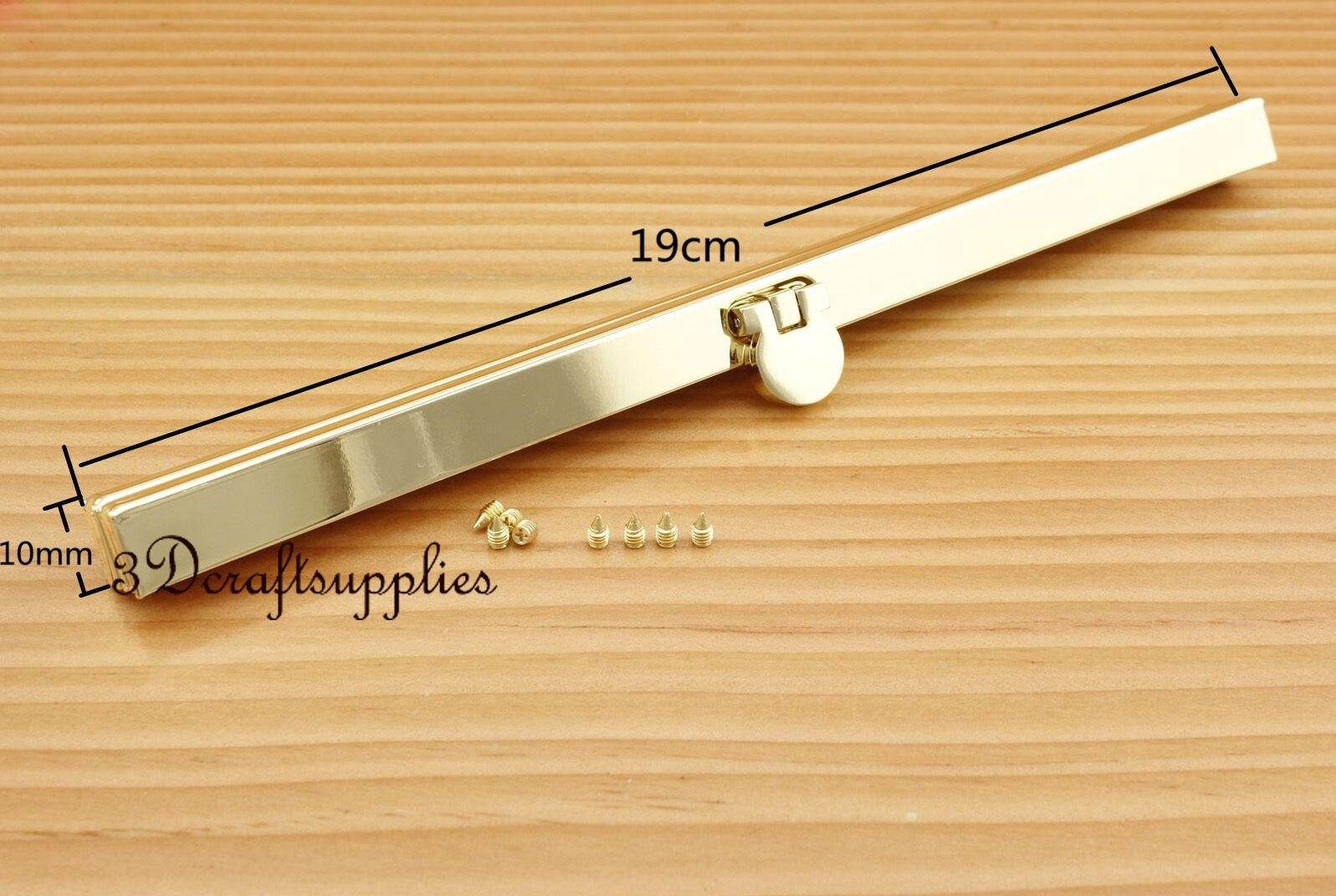 7 1/2 inch ( 19 cm ) light gold wallet purse frame wallet frame P75