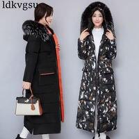 Winter Coat Women Parka Real Fur Down Jacket With Fur Hood Thicken Long Women Winter Jacket 2018 Ukraine Manteau Femme Hiver V04