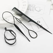 Women DIY Hair Twist Bun Making Comb Ponytail Maker Styling Clip Braid Accessories Tools Sets