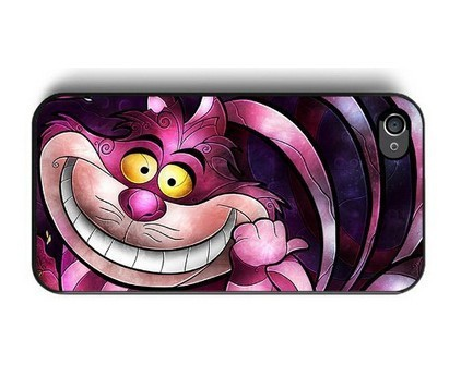 New Cartoon Alice In Wonderland Pink Cheshire Cat Cell Phone Hard Cases Cover for iPhone 4/4s/5/5s/5c/6/6s/6plus/6s plus