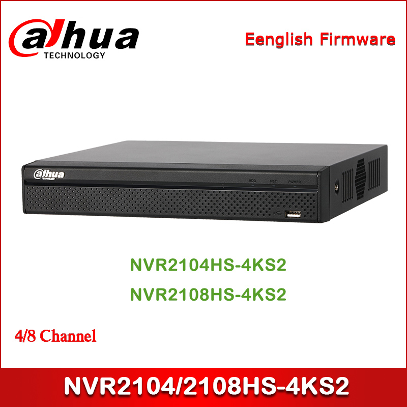 Dahua NVR NVR2104HS 4KS2 NVR2108HS 4KS2 4/8 Channel Compact 1U Lite 4K H.265 Network Video Recorder