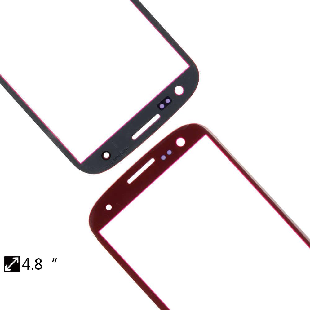 De tela Para Samsung Galaxy i9305 S3 I9300 I747 Outer Tampo de Vidro/Lente Frontal Tela Frontal Tampa (Sem digitalizador não Toque na tela)