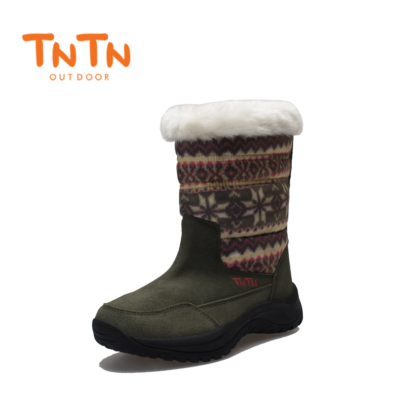 Suede Womens Ladies Ducks Down Warm Winter BootS Waterproof Shoes Snow Wools Skiing 100% High Quality New