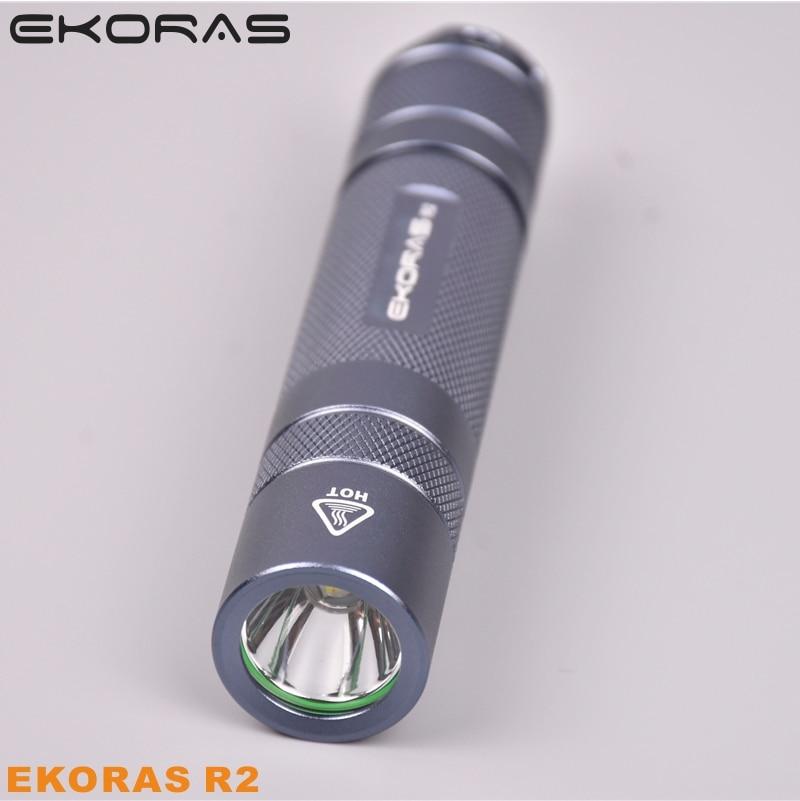 LED Flashlight Gray Cree XML2 U2-1A EDC Torch Lantern Bike Self Camping Light