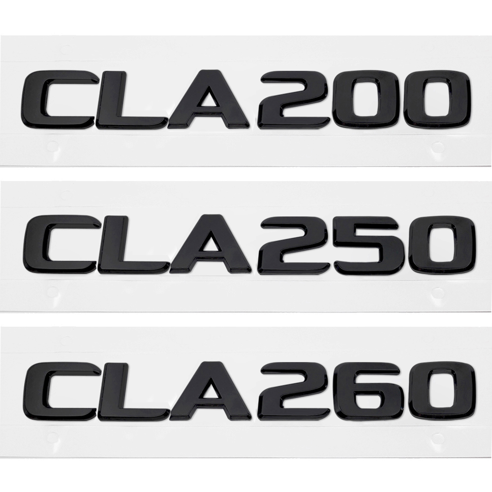 MATTE BLACK CLA250 TRUNK LETTER EMBLEM BADGE FOR MERCEDES BENZ AMG CLA-CLASS