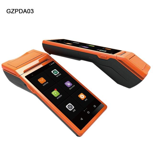 Dispositivo portátil PDA POS terminal integrado en impresora térmica bluetooth 58mm wifi Android robusto PDA cámara de código de barras Scaner 1D 2D