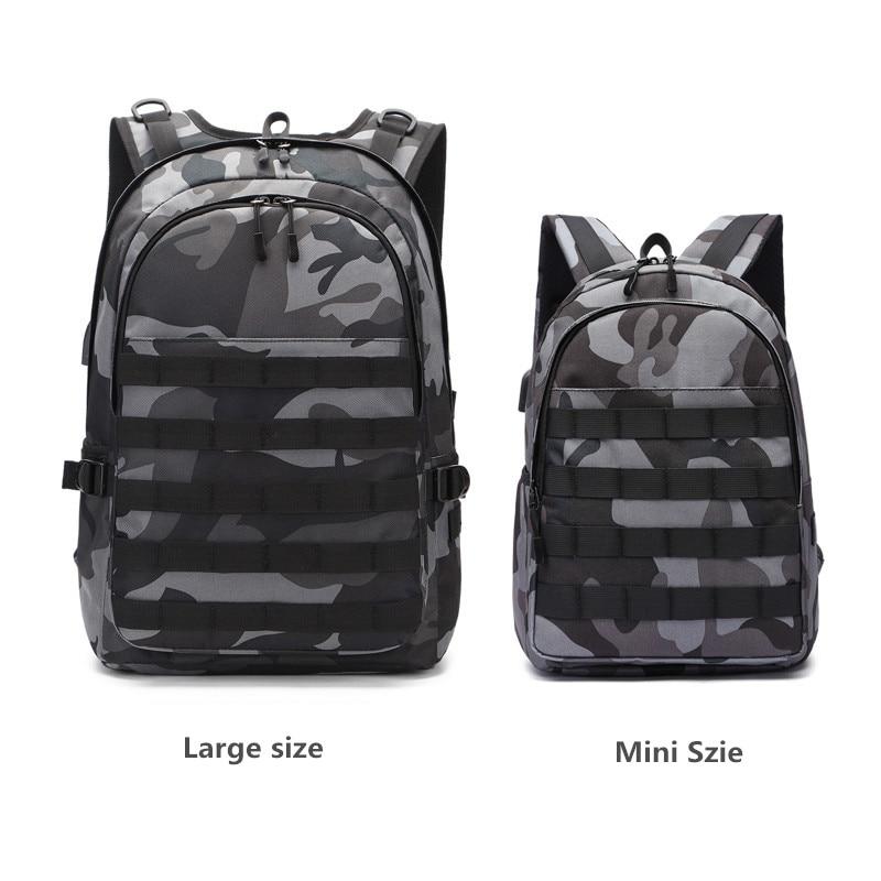 Mini Bag PUBG Backpack Men School Bag Mochila Pubg Battlefield Infantry Pack Camouflage Travel USB Charging Backpack Cosplay