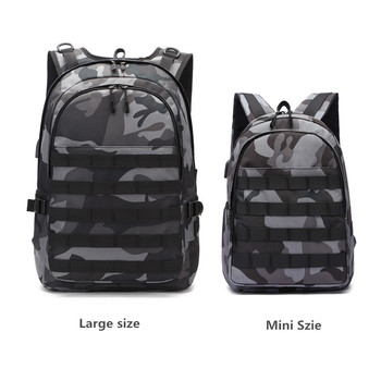 Mini Bag PUBG Backpack Men School Bag Mochila Pubg Battlefield Infantry Pack Camouflage Travel USB charging backpack Cosplay game pubg playerunknown s battlegrounds cosplay costumes props first aid packet pen camouflage bag