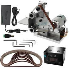 цена Eu Plug,Multifunctional Grinder Mini Electric Belt Sander Diy Polishing Grinding Machine Cutter Edges Sharpener