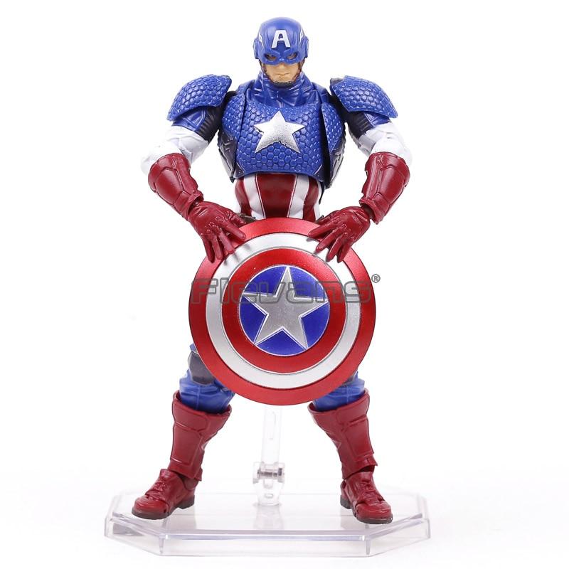 Comicfiguren Amazing Yamaguchi Revoltech Captain America No.007 Action Figur Figuren No Box
