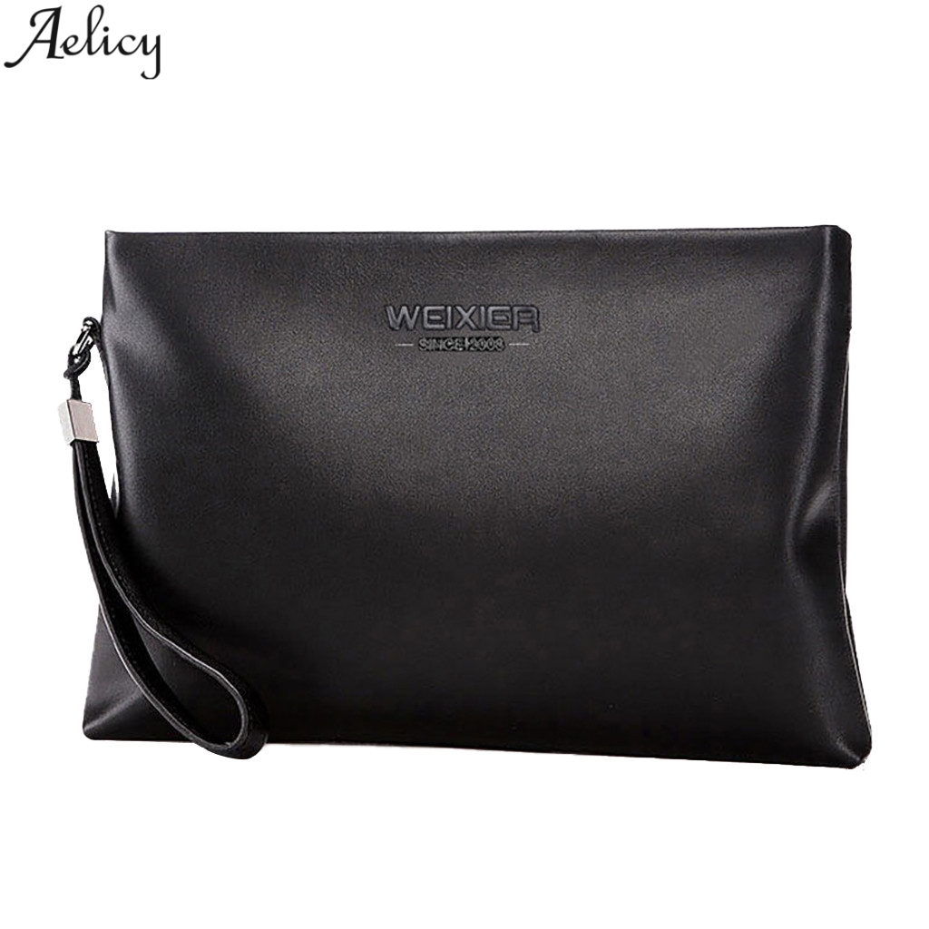Aelicy Men Business Style Ol Solid Day Clutches Fashion Pu Leather Envelopes Bags Stylish Hand Take Bag  Hot Sales HandbagAelicy Men Business Style Ol Solid Day Clutches Fashion Pu Leather Envelopes Bags Stylish Hand Take Bag  Hot Sales Handbag