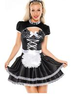 2017 Newest Coquette Masquerade Women's Flirty French Maid Costume Halloween Costumes For Women W329328