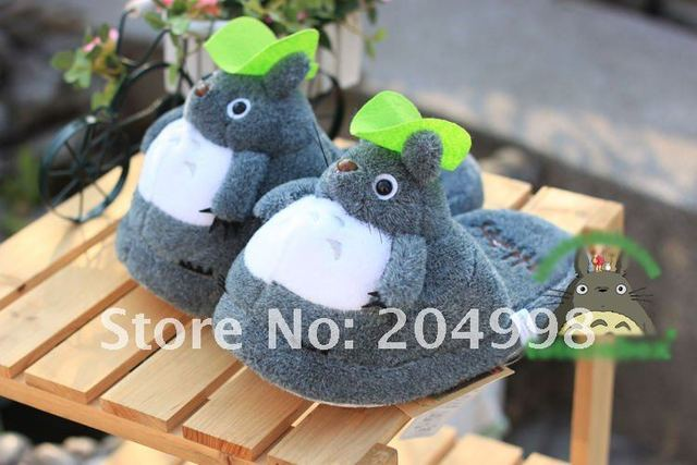 "Free shipping Cute My Neighbor TOTORO 11"" Soft Plush  Warm Winter Slippper"