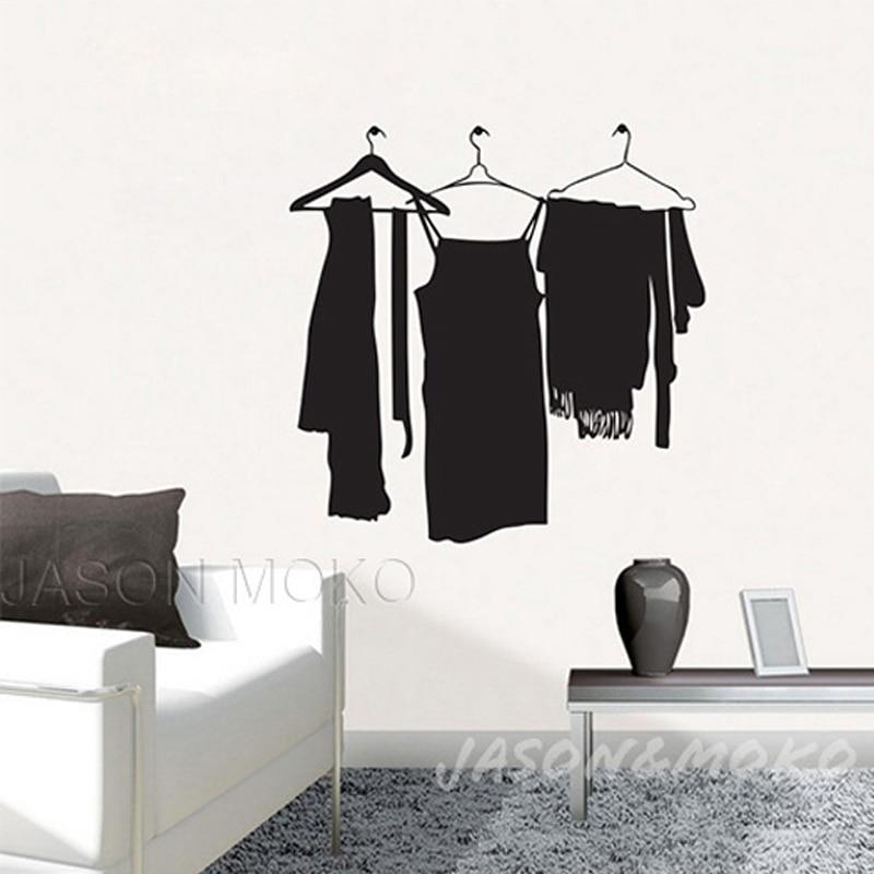 Hang Clothes On Wall online shop hang clothes coat hanger rack vinyl wall stickers