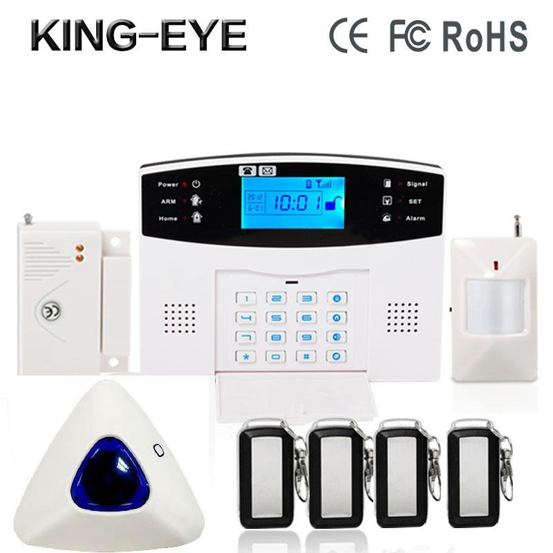 433MHz wireless Polish/Spanish/French voice prompt GSM alarm systems security home anti-theft with wireless indoor strobe siren russian french spanish polish voice prompt gsm alarm system for home security anti theft pir detector wireless siren app control