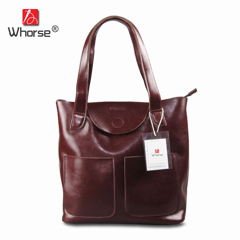 Brand Vintage Casual Composite Bag Genuine Leather Women Large Capacity Handbag Tote Shoulder Bags Set 2 pieces W07850 faux leather minimalist practical 3 pieces tote bag set page 5