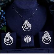 HTB1QVRzgeuSBuNjy1Xcq6AYjFXau JaneKelly Gold-Color Luxury Sparking Brilliant Cubic Zircon Drop Earring Necklace Jewelry Sst Wedding Bridal jewelry sets