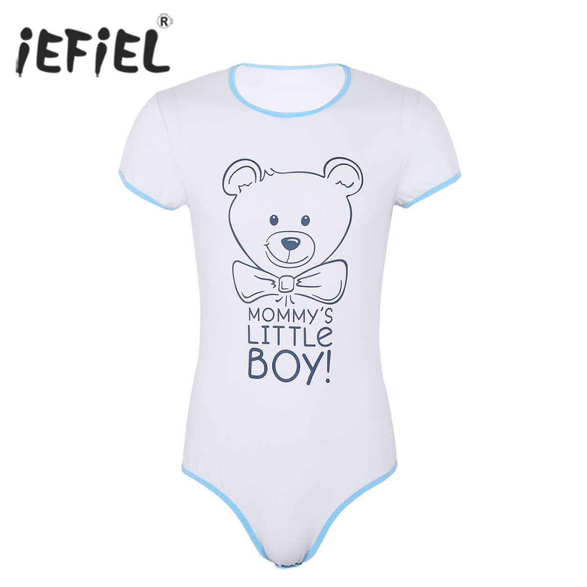 77ba8a5571 Detail Feedback Questions about Mens One Piece Adult Baby   Diaper Lover  Lingerie Short Sleeves Snap Crotch Front Printed Sissy Gay Male Bodysuit  Romper ...