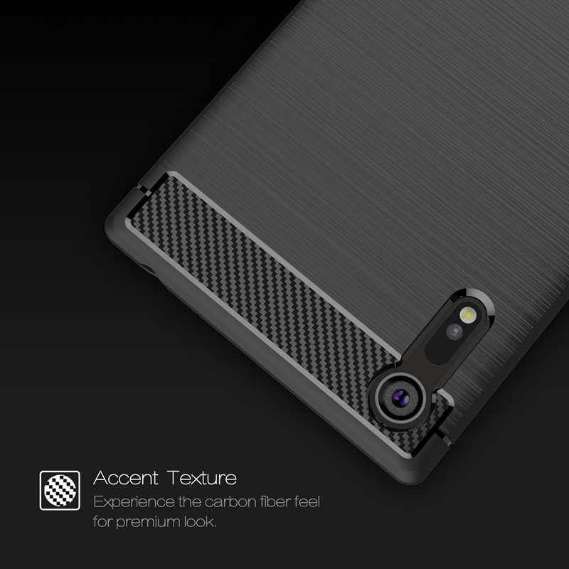 Luxury Carbon Fiber TPU For Sony Xperia XZ XZ2 XZ3 XA1 Ultra Case Soft Armor Cover For Sony XZ Premium XZs Case Protective Shell