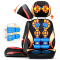 Cervical neck waist back massager. Multifunction body massage cushion. 5D Scrapping kneading vibration massage 220V EU UK AU US