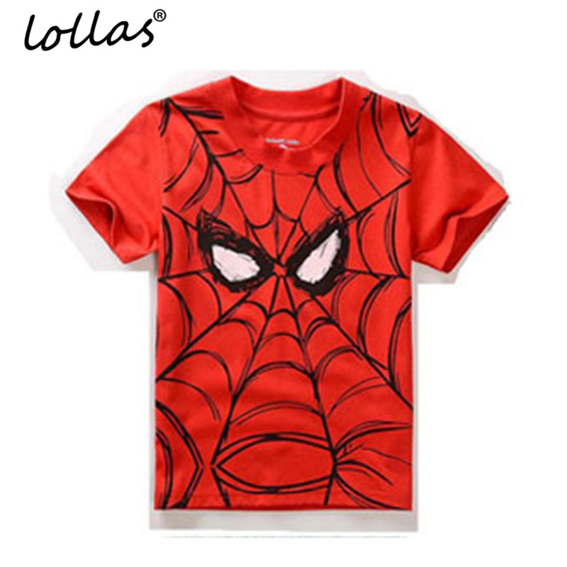 Lollas New Summer Children Boy T shirts Popular Hero Print Kids Baby Boy Tops Short Sleeve Cartoon Printing T-Shirt Tee