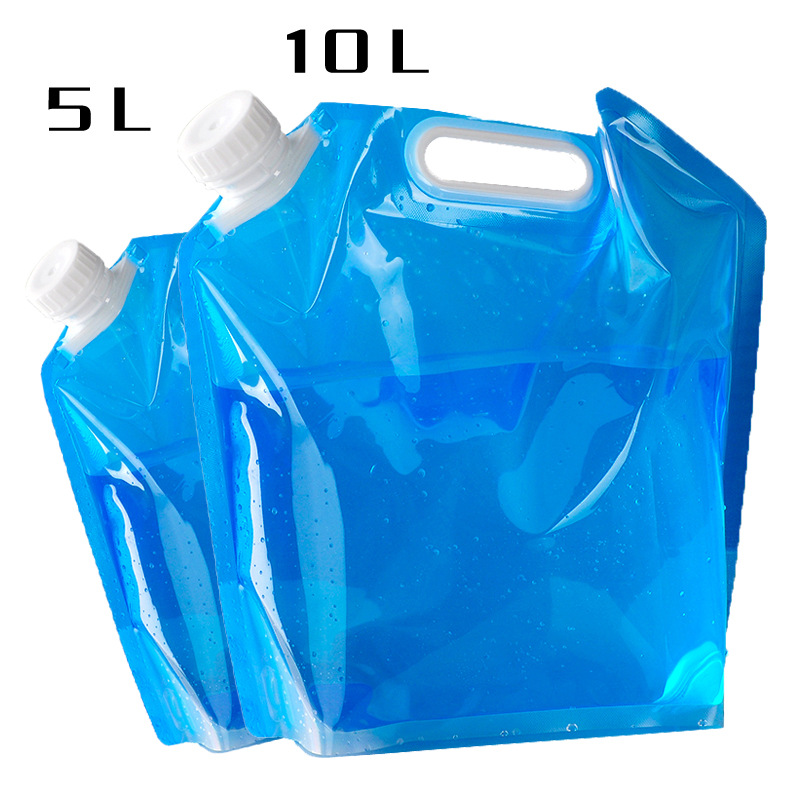 Outdoor EDC 5L/10L Foldable Water Bag Carrier Container For Outdoor Camping Hiking Picnic BBQ Folding Car Water Bag