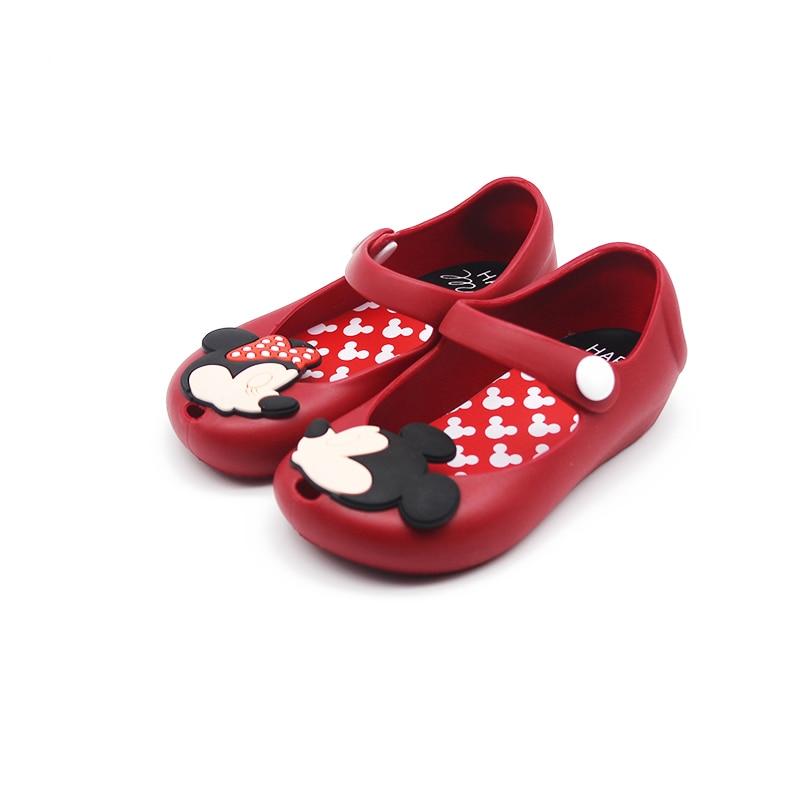 Mini Melisse 2018 Neue Mini Schuhe Mickey Und Minnie Schuhe Kristallgelee Sandalen Kinder Schuhe Fischkopf Schuhe Rot Schwarz