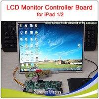 """9.7 """"1024*768 液晶モニター画面モジュールコントローラのドライバボード iPad 1/2 画面ラズベリーパイ上で動作 -"""