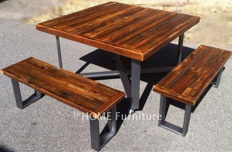 Patio American Country Style Retro Dinette Table And Chairs For Outdoor Industrial Antique Coffee Table Cafe Tables East Coast Chair Barstool American Country Style Retro Dinette Table And Chairs For Outdoor