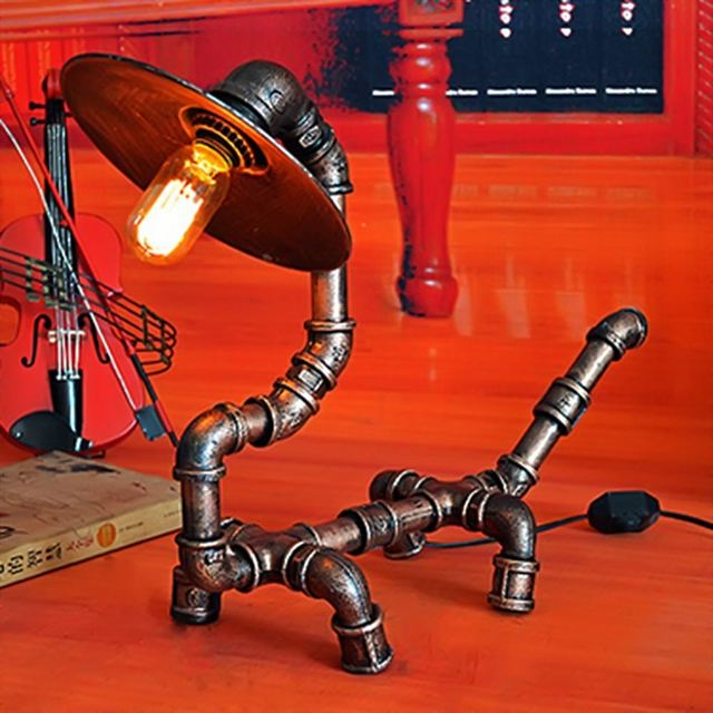 Desk Light Creative Retro American Country Table Lamp For Dining Room Bedroom Bedside Cafe Coffee Shop Restaurant