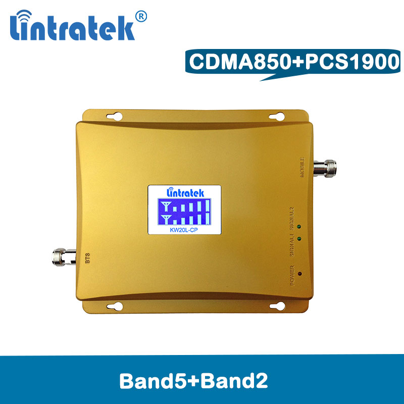 Lintratek repetidor 850mhz PCS 1900 cellular signal booster dual band GSM 1900mhz UMTS CDMA 2G 3G celular amplifier @8.2Lintratek repetidor 850mhz PCS 1900 cellular signal booster dual band GSM 1900mhz UMTS CDMA 2G 3G celular amplifier @8.2