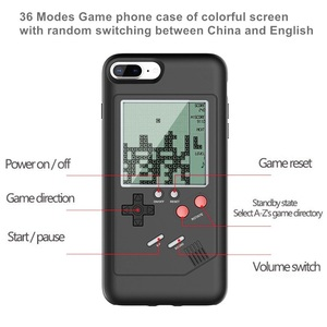 Image 5 - Tetris Game Phone Case for iPhone 11 Pro XS Max XR X 6S 6 7 8 Plus Soft TPU Frame Console Game Boy Silicone Phone Cases Funda