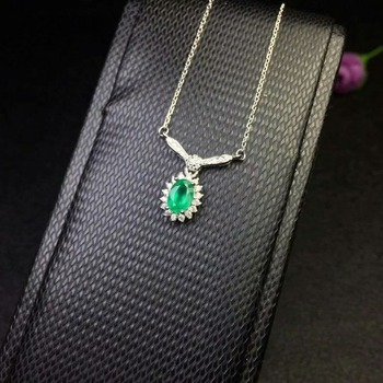 e780a73a7039 SHILOVEM 925 Emerald colgantes joyería fina clásica al por mayor del regalo  de boda de las