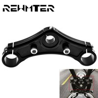 Motorcycle Top Triple Clamps Aluminum For Harley Sportster Forty Eight w/ Riser Holes 2010 2011 2012 2013 2014 2015 Black