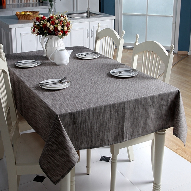 Solid Color Cotton Linen Tablecloths Japan Style Pastoral ...