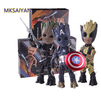 Captain America Tree Man The Winter Soldier Groot Wolverine Comics Marvel Toys Action Figure Collectible Model Gift Doll XM