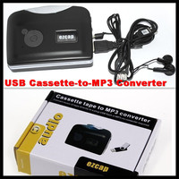 USB Cassette Capture Recorder Radio Player,Tape to PC Portable Cassette Tape to MP3 Converter (USB Memory),No Need Computer