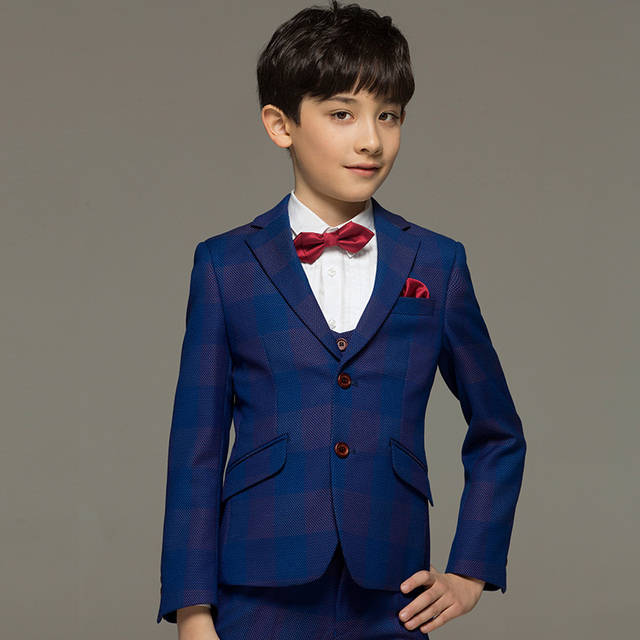 Brand boy clothes children kids baby boy suits for wedding Blue ...