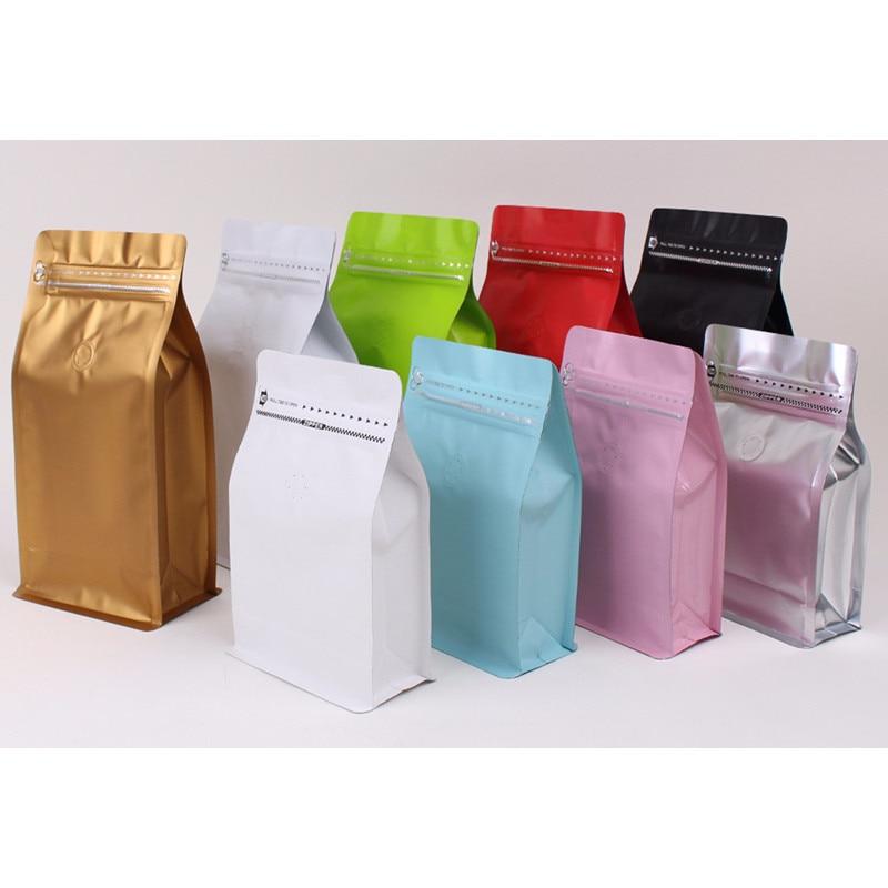 10pcs Color aluminum foil zip lock bag 450g coffee bean ...