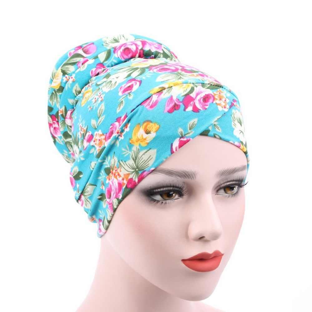 f44a6bbb922 Women Girls Muslim Stretch Turban Hat Chemo Cap Casual Beanies Hat Gorras  mujer Hair Loss Head