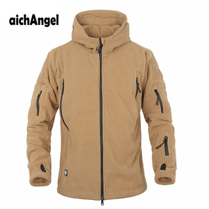 Image 2 - Winter Military Tactical Fleece Jacket Military Uniform Soft Shell Fleece Hoody Jacket Men Thermal Hoodie Coat