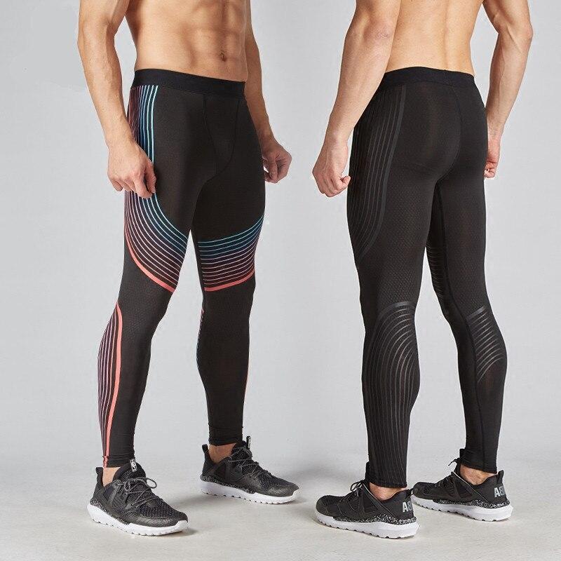 5d52eb0444e7f0 Men's Fitness Compression Pants Leggings Men's Sports Leggings Running Dry  Sportswear Trousers Gym Training Pants Hombre