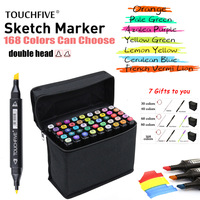 TouchFIVE Marker 30 40 60 80 168Color Drawing Brush Pen Oily Alcohol Based Art Markers Set